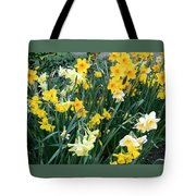 Bed Of Daffodils Tote Bag