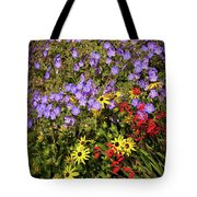 Bed Of Flowers Tote Bag