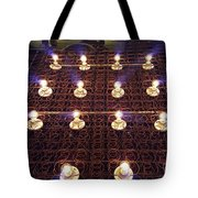 Bed Spring Lights Tote Bag