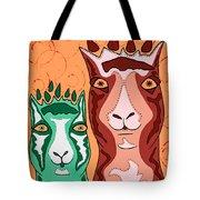 Bedazzled Llamas Tote Bag