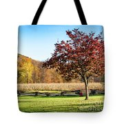 Bedford, Pa Fall Landscape Tote Bag