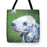 Bedlington Terrier With Butterfly Tote Bag
