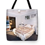 Bedroom With River View Tote Bag