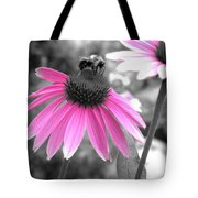 Bee And Cone Flower Tote Bag