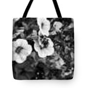 Bee And Flowers, Bw Tote Bag