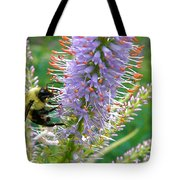 Bee And Its Lavender Delight Tote Bag