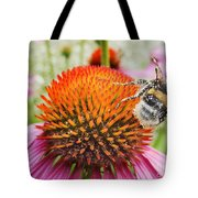 Bee And Pink Flower Tote Bag