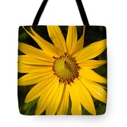 Bee And Yellow Flower Tote Bag
