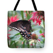 Bee Balm Butterfly Tote Bag