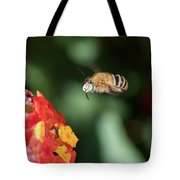 Bee, Bumblebee, Flying To A Flower, In Marseille, France Tote Bag