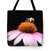 Bee Coneflower Tote Bag
