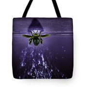 Bee Drilling Wood Tote Bag