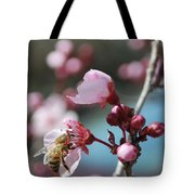 Bee In A Blossom Tote Bag