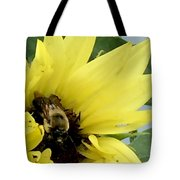 Bee In Sunflower Tote Bag