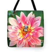 Bee In The Center Tote Bag