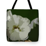 Bee In The Hollyhock Tote Bag