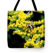 Bee In The Rawweed Tote Bag