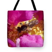 Bee In The Rugosa Tote Bag