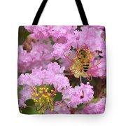 Bee On A Crepe Myrtle Flower Tote Bag