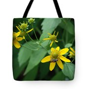 Bee On A Flower Tote Bag