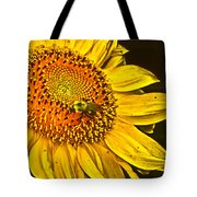 Bee On A Sunflower Tote Bag