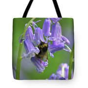 Bee On Bluebell Tote Bag