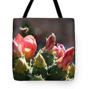 Bee On Cactus In Croatia Tote Bag