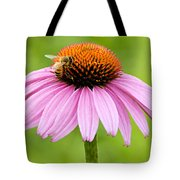 Bee On Cone Flower Tote Bag