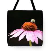 Bee On Coneflower 2 Tote Bag