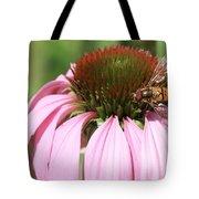 Bee On Echinacea Tote Bag