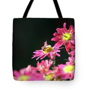 Bee On Flower Spring Scene Tote Bag