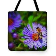 Bee On Lavender Flower Tote Bag