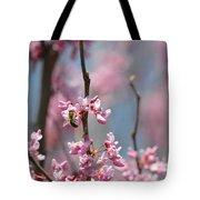 Bee On Pink Bloom Tote Bag
