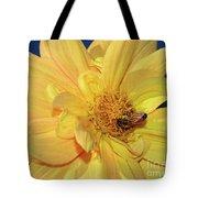 Bee On Pretty Dahlia By Kaye Menner Tote Bag