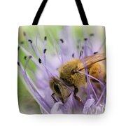 Bee On Purple Tote Bag