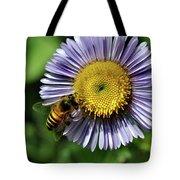 Bee On Purple Petals Tote Bag