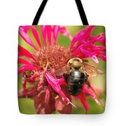 Bee On Tea Bloom Tote Bag