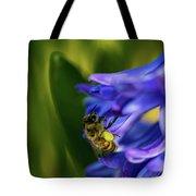 Bee On The Hyacinth Tote Bag