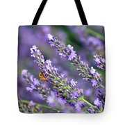 Bee On The Lavender Tote Bag