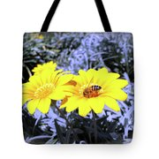 Bee On The Yellow Tote Bag