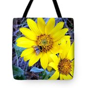Bee On Wild Sunflowers Tote Bag