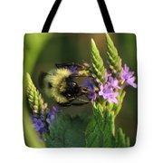 Bee On Wildflower Tote Bag