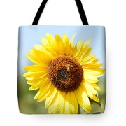 Bee On Yellow Sunflower Tote Bag