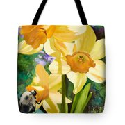 Bee Open By Marilyn Nolan-johnson Tote Bag