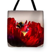 Bee Right Back With Red Flower Tote Bag