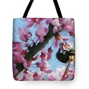 Bee To The Blossom Tote Bag