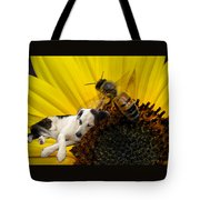 Bee With Dog Tote Bag