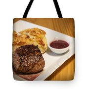 Beef Steak With Potato And Cheese Bake Tote Bag