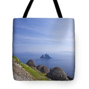 Beehive Stone Huts, Skellig Michael County Kerry Ireland Tote Bag