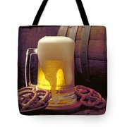 Beer And Pretzels Tote Bag